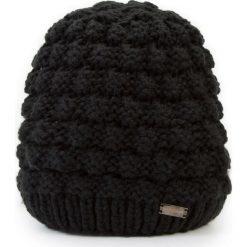 Czapka damska 87-HF-014-1. Czarne czapki zimowe damskie Wittchen, na zimę, z dzianiny. Za 99,00 zł.