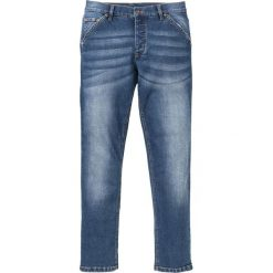 """Dżinsy ze stretchem Slim Fit Straight bonprix niebieski """"stone used"""". Niebieskie jeansy męskie relaxed fit bonprix. Za 49,99 zł."""