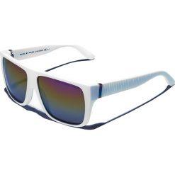 Okulary przeciwsłoneczne męskie aviatory: Okulary męskie w kolorze białym ze wzorem