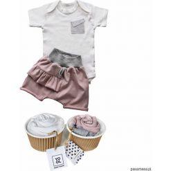 Body niemowlęce: Komplet szorty baggy + body 2 pack róż
