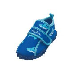 Playshoes  Buty do wody Rekin blue - niebieski. Niebieskie buciki niemowlęce Playshoes, z materiału. Za 59,00 zł.