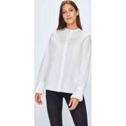 Tommy Hilfiger - Koszula Suri. Szare koszule damskie marki TOMMY HILFIGER, z bawełny, casualowe, ze stójką, z długim rękawem. W wyprzedaży za 319,90 zł.