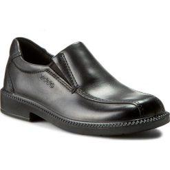 Półbuty ECCO - Junior Dublin 73550201001 Black. Czarne buty wizytowe męskie ecco, z materiału. W wyprzedaży za 199,00 zł.
