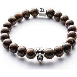Bransoletki damskie: Bransoletka Gemini Classic Skull Brown C5-G