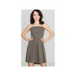 Sukienka K368 Oliwka. Brązowe sukienki na komunię marki Reserved, m, z gorsetem, gorsetowe. Za 149,00 zł.