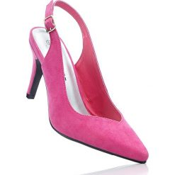 Buty ślubne damskie: Czółenka z paskiem bonprix różowy