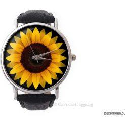 Zegarki damskie: Zegarek z dużą tarczką Słonecznik - 0965
