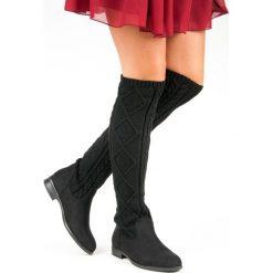 STYLOWE PŁASKIE KOZAKI. Czarne buty zimowe damskie SEASTAR, na płaskiej podeszwie. Za 100,00 zł.