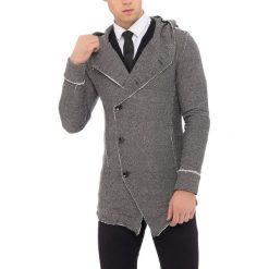 Kardigan w kolorze czarno-białym. Czarne kardigany męskie marki Reserved, m, z kapturem. W wyprzedaży za 119,95 zł.