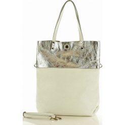 Torebka skórzana BrigidaMAZZINI -  biała /silver. Białe torebki worki MAZZINI, ze skóry, duże. Za 279,00 zł.