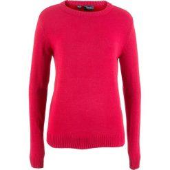 Swetry klasyczne damskie: Sweter bonprix czerwony