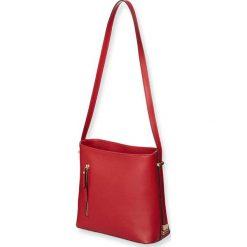 """Torebki klasyczne damskie: Skórzana torebka """"Sonny"""" w kolorze czerwonym – 23 x 26 x 10 cm"""
