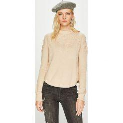 Pepe Jeans - Sweter Sue. Szare swetry klasyczne damskie Pepe Jeans, l, z bawełny, z okrągłym kołnierzem. Za 279,90 zł.