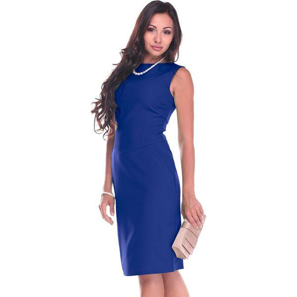 ed12cf4f4d Sukienka w kolorze niebieskim - Niebieskie sukienki damskie Laura ...
