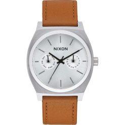 Zegarki męskie: Zegarek męski Silver Sunray Saddle Nixon Time Teller Deluxe Leather A9272310