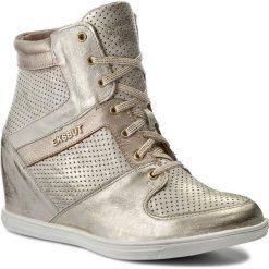 Sneakersy EKSBUT - 77-4418-672/F88-1G Złoto. Żółte sneakersy damskie Eksbut, z materiału. W wyprzedaży za 259,00 zł.