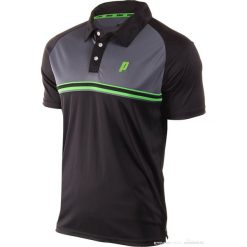 Koszulki polo: PRINCE Koszulka Męska Stripe Polo Czarno – Szare r. XL (3M102096)