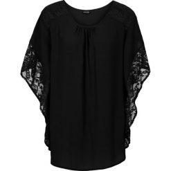 Bluzki damskie: Bluzka z koronkowymi wstawkami bonprix czarny