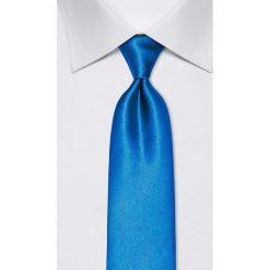 Krawaty męskie: Jedwabny krawat w kolorze jaskrawoniebieskim – szer. 8 cm