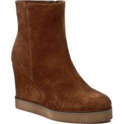 Botki LASOCKI - 239-495 Rudy. Brązowe buty zimowe damskie Lasocki, ze skóry, na obcasie. W wyprzedaży za 140,00 zł.