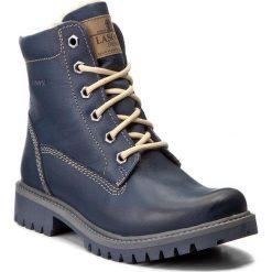 Trapery LASOCKI - WI20-ASPEN-02 Granatowy. Niebieskie buty zimowe damskie Lasocki, z nubiku. Za 199,99 zł.