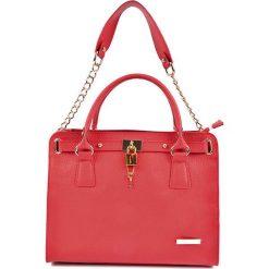 Torebki klasyczne damskie: Skórzana torebka w kolorze czerwonym – (S)33 x (W)27 x (G)15 cm