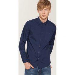 Gładka koszula - Granatowy. Niebieskie koszule męskie na spinki House, l. Za 69,99 zł.
