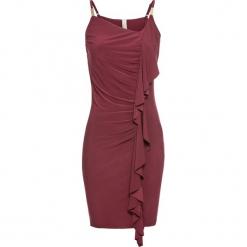Sukienka bonprix ciemnoczerwony. Czerwone sukienki balowe bonprix. Za 124,99 zł.