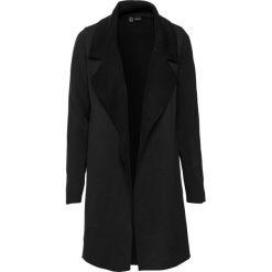 Płaszcz dzianinowy bonprix czarny. Czarne płaszcze damskie bonprix, z dzianiny. Za 179,99 zł.