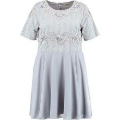 Sukienki hiszpanki: Lace & Beads Curvy Sukienka koktajlowa light grey