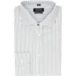 Koszula spello 2044 długi rękaw slim fit granatowy. Niebieskie koszule męskie jeansowe marki Recman, m, w paski, z klasycznym kołnierzykiem, z długim rękawem. Za 29,99 zł.