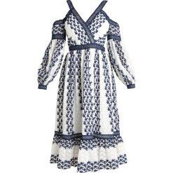 Forever New COLD SHOULDER MIDI DRESS Sukienka letnia white/navy. Białe sukienki letnie Forever New, z materiału, midi. W wyprzedaży za 375,20 zł.