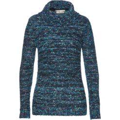 Golfy damskie: Sweter bonprix ciemnoniebiesko-pastelowy miętowy - pudrowy niebieski