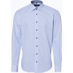 James - Koszula męska łatwa w prasowaniu, niebieski. Białe koszule męskie non-iron marki bonprix, z klasycznym kołnierzykiem. Za 179,95 zł.