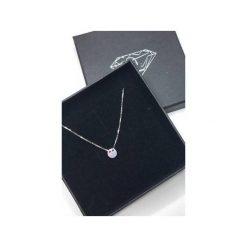 Naszyjniki damskie: Srebrny delikatny pozłacany naszyjnik koło