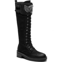 Oficerki BRUNO PREMI - Nabuk U7704X Nero. Niebieskie buty zimowe damskie marki Bruno Premi, z materiału. W wyprzedaży za 599,00 zł.