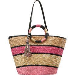 Shopper bag damskie: Rebecca Minkoff STRAW TOTE Torba na zakupy pink multi