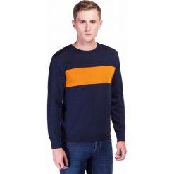 Sweter PIETRO SWWR000181. Brązowe swetry klasyczne męskie Giacomo Conti, na jesień, m, z jeansu, z klasycznym kołnierzykiem. Za 199,00 zł.