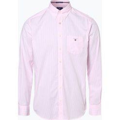 Gant - Koszula męska, różowy. Czerwone koszule męskie na spinki GANT, m, w paski, z bawełny. Za 379,95 zł.