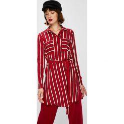 Answear - Koszula Falling in autumn. Czerwone koszule damskie marki ANSWEAR, l, w paski, z elastanu, casualowe, z długim rękawem. W wyprzedaży za 99,90 zł.