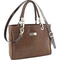Torebki klasyczne damskie: Skórzana torebka w kolorze brązowym – (S)30 x (W)22 x (G)12 cm