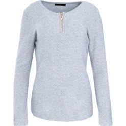 Swetry klasyczne damskie: Szary Sweter Lust