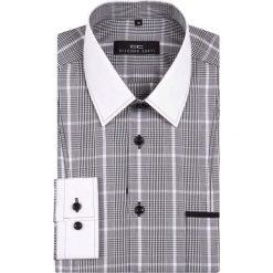 Koszula MICHELE 13-09-44. Szare koszule męskie na spinki Giacomo Conti, m, z bawełny, z klasycznym kołnierzykiem, z długim rękawem. Za 229,00 zł.