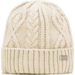 85-HF-026-0 Czapka damska. Brązowe czapki damskie Wittchen, na zimę, z dzianiny. Za 49,00 zł.