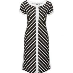 Sukienki: Sukienka w paski bonprix biel wełny – czarny w paski