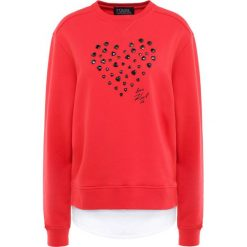 KARL LAGERFELD LOVE Bluza poppy red. Czerwone długie bluzy damskie marki KARL LAGERFELD, s, z bawełny, z długim rękawem. W wyprzedaży za 369,50 zł.