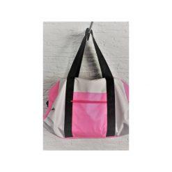 Sportowa torba Mili Fit Bag - pink/grey. Czerwone torby podróżne Militu, w paski. Za 230,00 zł.