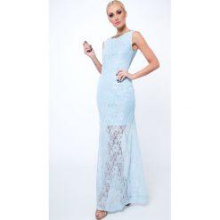 Sukienka koronkowa długa jasnoniebieska G5282. Czarne sukienki marki Fasardi, m, z dresówki. Za 69,00 zł.