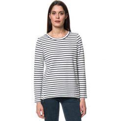 Swetry klasyczne damskie: Sweter w kolorze biało-czarnym