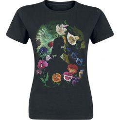 Alicja w Krainie Czarów Black Flower Koszulka damska czarny. Czarne bluzki z odkrytymi ramionami Alicja w Krainie Czarów, xl, z nadrukiem, z okrągłym kołnierzem. Za 74,90 zł.